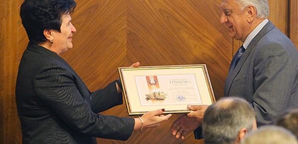 Надежда Котковец получила премию